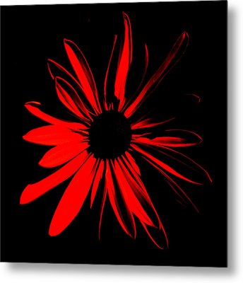 Metal Print featuring the digital art Flower 2 by Maggy Marsh