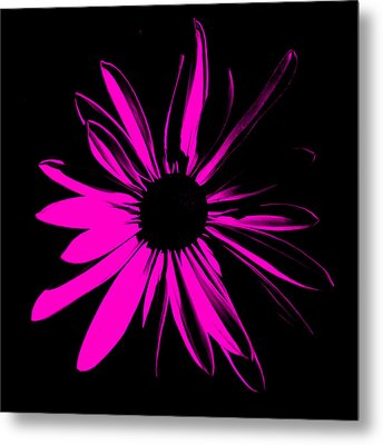 Metal Print featuring the digital art Flower 6 by Maggy Marsh
