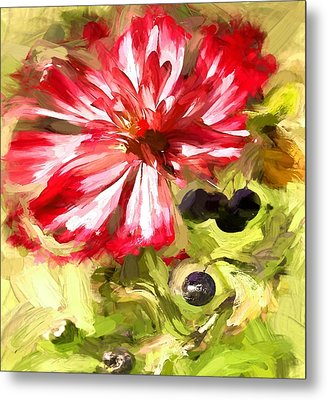 Flower And Berries Metal Print by Yury Malkov