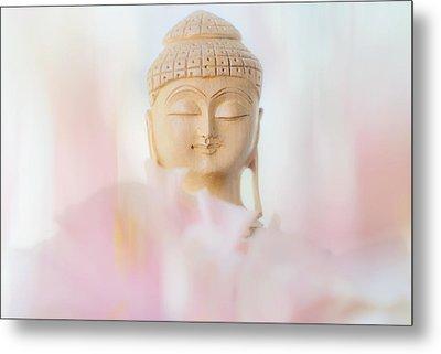 Flower Buddha 2 Metal Print by Jenny Rainbow