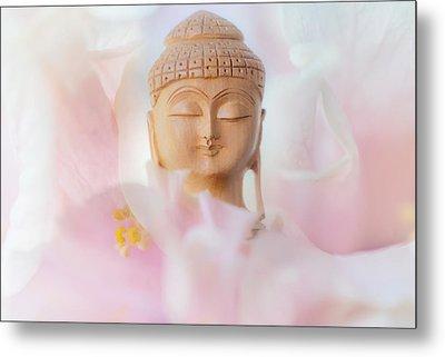 Flower Buddha 3 Metal Print by Jenny Rainbow