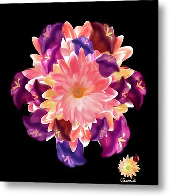 Flower Circle Metal Print by Christine Fournier