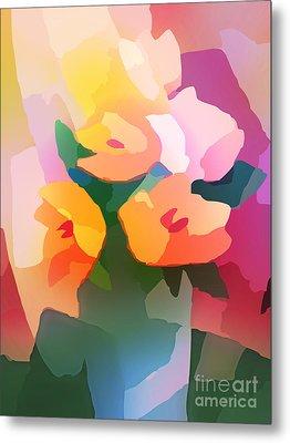 Flower Deco II Metal Print by Lutz Baar