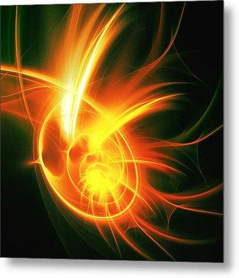 Flower Energy Metal Print by Anastasiya Malakhova