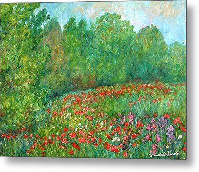 Flower Field Metal Print by Kendall Kessler