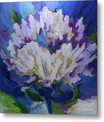 Flower For A Friend Metal Print by Alison Caltrider