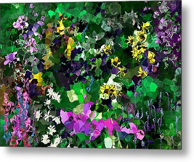 Metal Print featuring the digital art Flower Garden by David Lane