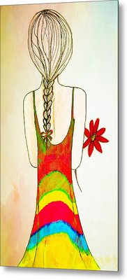 Flower Girl Metal Print by Anne Costello