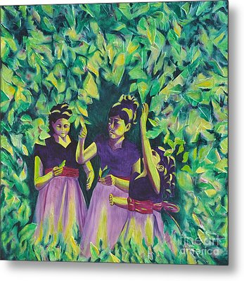 Flower Girls Metal Print