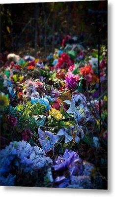 Flower Graveyard Metal Print