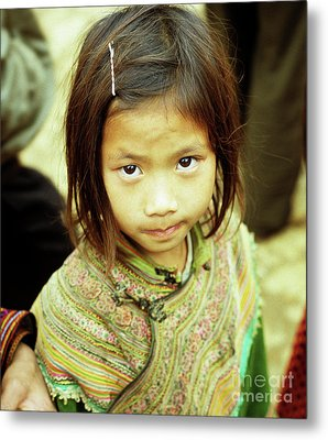 Flower Hmong Girl 02 Metal Print by Rick Piper Photography