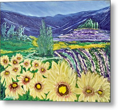 Flowers In August Metal Print by Suzanne Surber