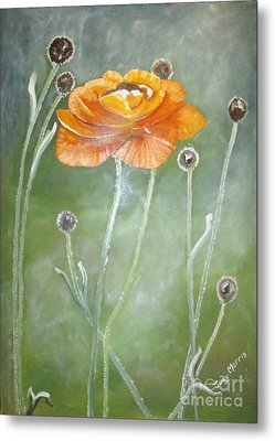 Flower In The Mist Metal Print