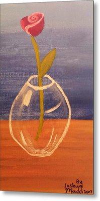 Flower In Vase Metal Print by Joshua Maddison
