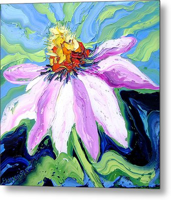 Flower Metal Print by Isabelle Gervais