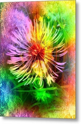 Metal Print featuring the digital art Flower Light by Nico Bielow