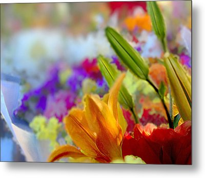 Flower Market 1 Metal Print