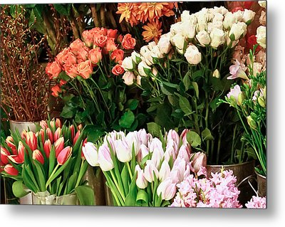 Flower Market Metal Print by Ann Murphy