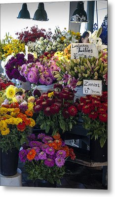 Flower Market Metal Print by Wayne Meyer
