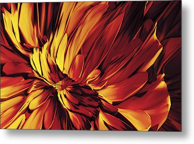 Metal Print featuring the digital art Flower by Matt Lindley