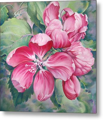 Flower Of Crab-apple Metal Print by Anna Ewa Miarczynska
