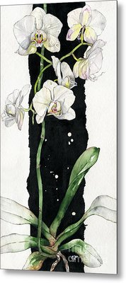 Metal Print featuring the painting Flower Orchid 05 Elena Yakubovich by Elena Yakubovich