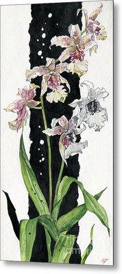 Metal Print featuring the painting Flower Orchid 06 Elena Yakubovich by Elena Yakubovich