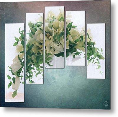 Flower Panels Metal Print by Gun Legler