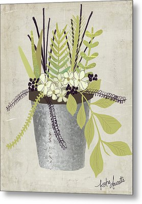 Flower Pot Metal Print