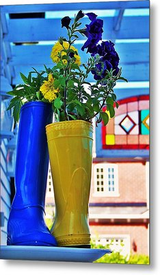 Flower Pots... Metal Print by Al Fritz