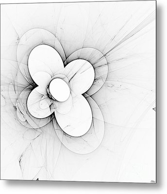 Metal Print featuring the digital art Flower Power by Arlene Sundby