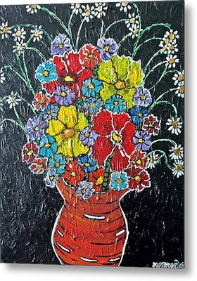 Flower Power Metal Print by Matthew  James