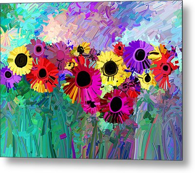 Flower Power Two Metal Print by Ann Powell
