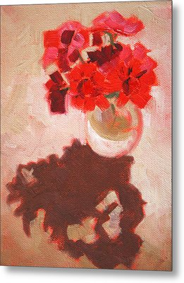 Flower Shadows Still Life Metal Print