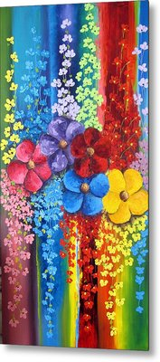 Flower Shower Metal Print by Katia Aho