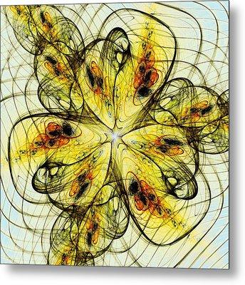 Flower Sketch Metal Print by Anastasiya Malakhova