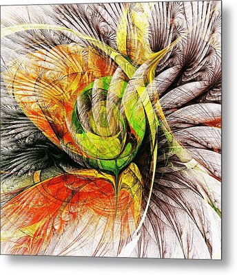 Flower Spirit Metal Print by Anastasiya Malakhova