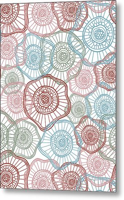 Flower Squiggle Metal Print by Susan Claire
