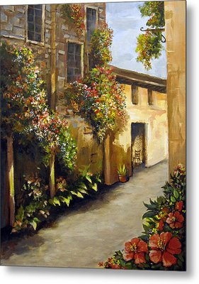 Metal Print featuring the painting Flower Street by Carol Hart