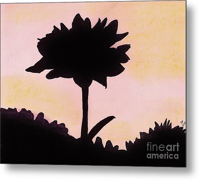 Metal Print featuring the drawing Flower - Sunrise by D Hackett