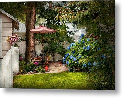 Flower - Westfield Nj - Private Paradise Metal Print by Mike Savad