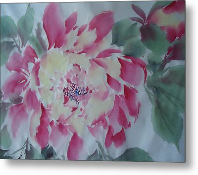 Metal Print featuring the painting Flower0814 by Dongling Sun