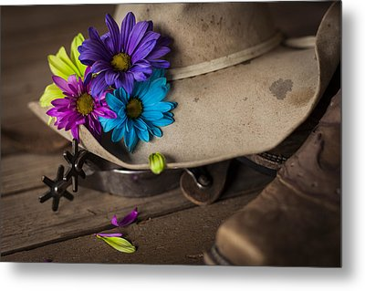 Flowered Hat Metal Print by Amber Kresge