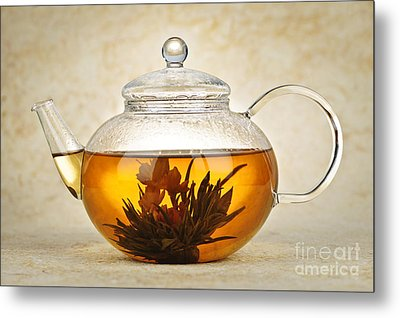 Flowering Blooming Tea Metal Print