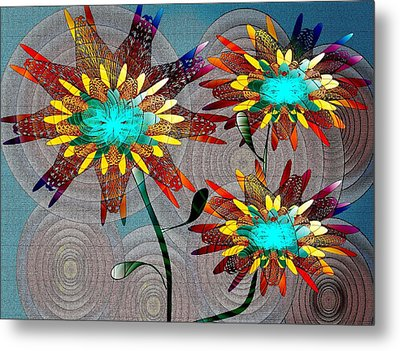 Flowering Blooms Metal Print