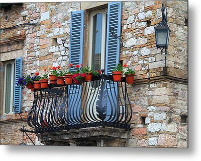 Flowers 3- Assisi Metal Print by Theresa Ramos-DuVon