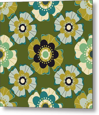 Metal Print featuring the digital art Flowers 7 by Lisa Noneman