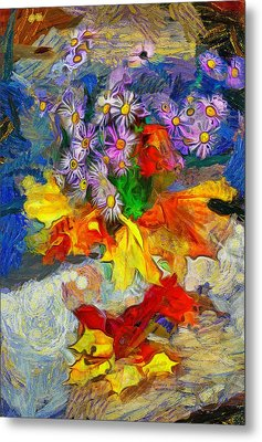 Flowers And Colours Metal Print by Yury Malkov