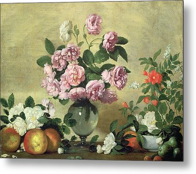 Flowers And Fruit Metal Print by Bernardo Strozzi
