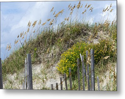 Metal Print featuring the photograph Flowers And Sea Oats by Gregg Southard